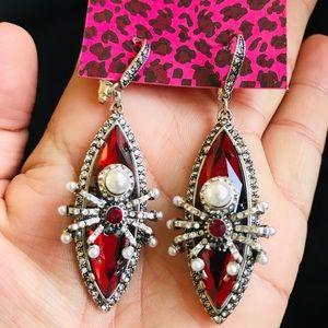 BETSEY JOHNSON~ Spider earrings